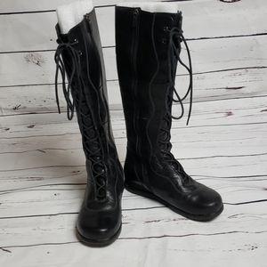 Dansko black lace up boots size 36